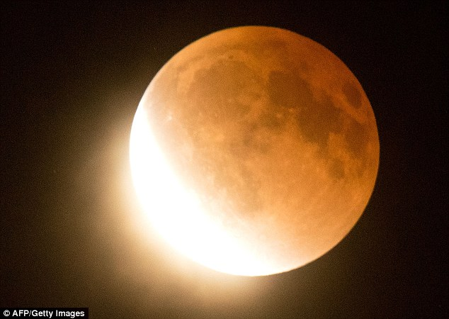 Blood moon rising: The opening stages of one of the world's rarest astrological events