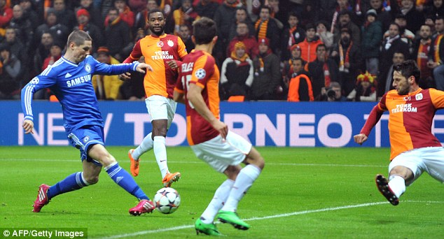 It's been a while: Torres last scored for Chelsea against Galatasaray in the Champions League in February