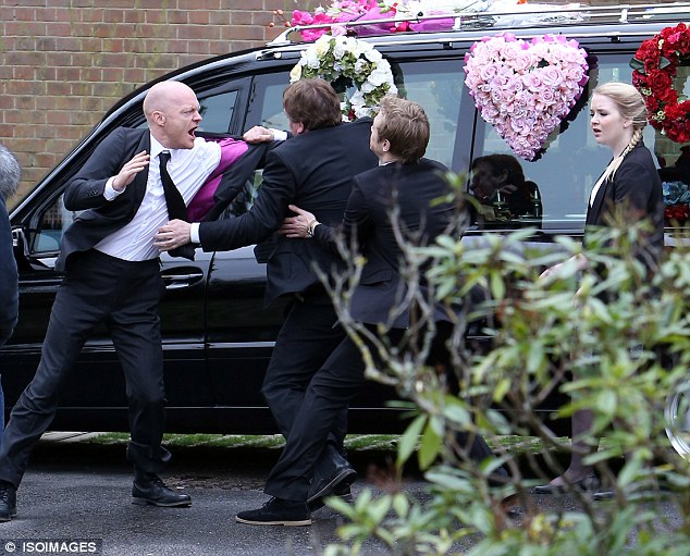 Emotions running high: Ian had just found out Max had been having a secret affair with his daughter Lucy