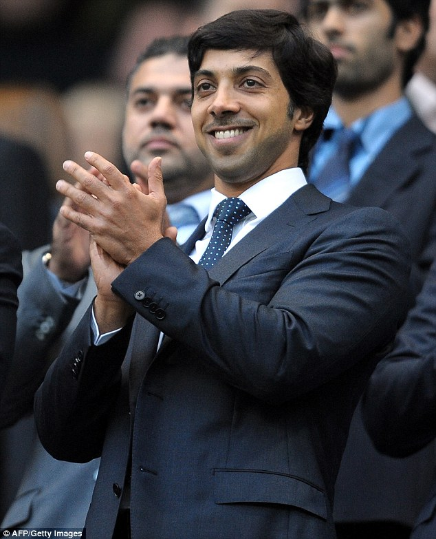 Big spender: Man City owner Sheik Mansour has invested hundreds of millions of pounds into making his club title challengers but could now pay the price