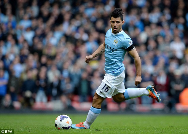 Marquee signing: City spent £38m brining Sergio Aguero to the Etihad in July 2011, but such expensive signings may mean City fall foul of FFP regulations