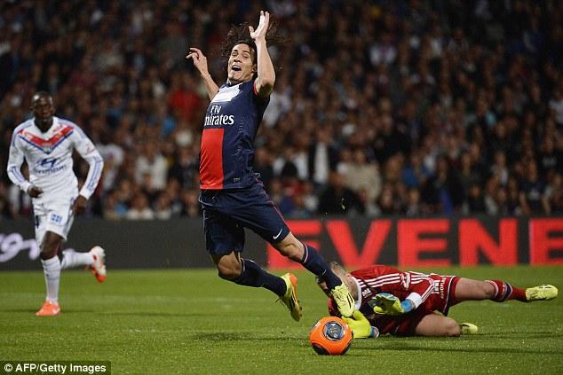 In trouble: Signings like Edinson Cavani could mean Paris St Germain contravene UEFA's rules