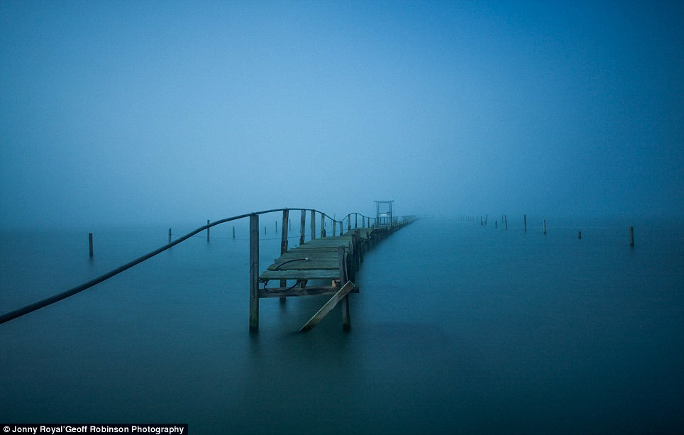Eerie mists: Taken by Jonny Royal in Sandbanks, Dorset, this photograph is one of ten shortlisted for the RNLI My Coast competition