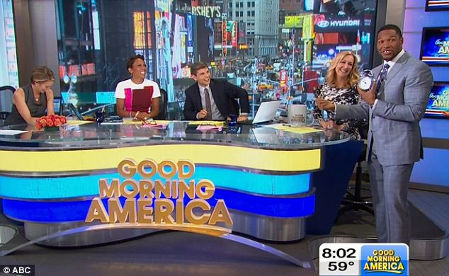 A part of the family: Michael Strahan (right) will be joining Good Morning America 'a few days' a week while still keeping his full time gig as a co-host on ABC's 9am talk show 'Live with Kelly and Michael'