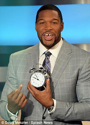 Earlier wake ups: The GMA co-hosts wake up between 2.45am and 3.45am to be ready for the 7am start to the show, so they welcomed Strahan to their ranks with a few helpful gifts