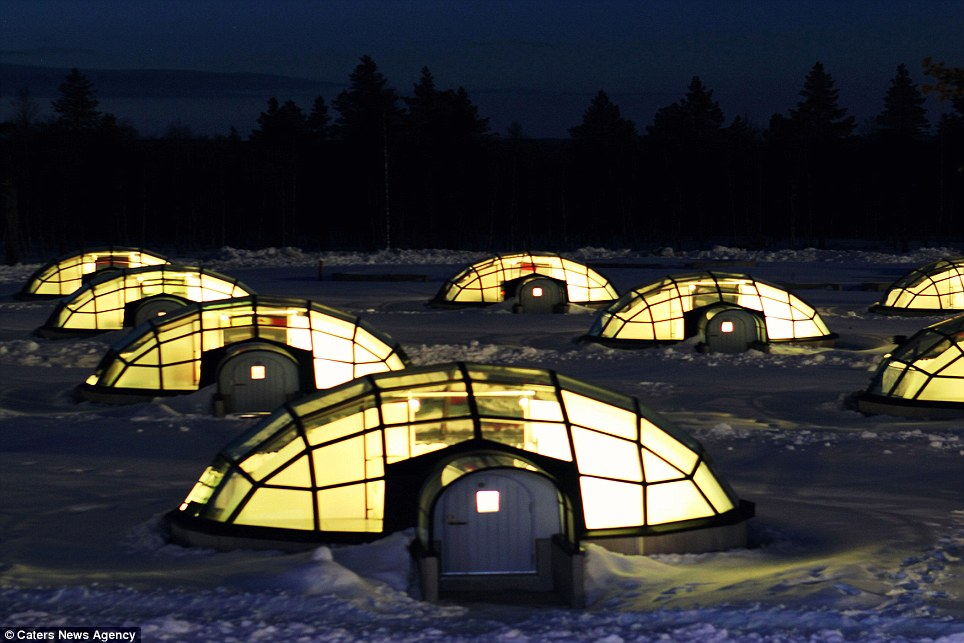Warm welcome: The igloos use thermal glass and have heated floors to make an overnight stay more comfortable