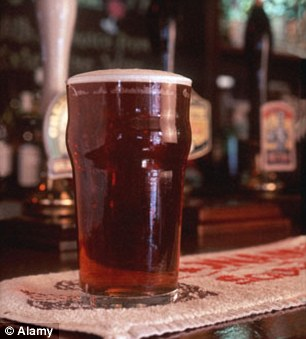 Hike: The average price of a pint of beer is £3.03, a five per cent increase since 2012
