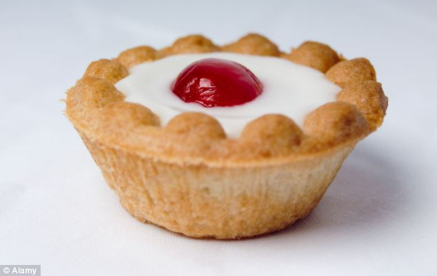 Sweet tooth: Mr Webb admits he has a sweet tooth and enjoys a Bakewell tart