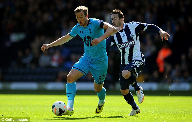 Loan star: Harry Kane of Spurs is pursued by Amalfitano, seen here pursuing Spurs' Harry Kane, has impressed during his time in England