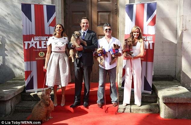 There they are again: Simon's beloved jeans made another appearance at the Britain's Got Talent launch on April 9