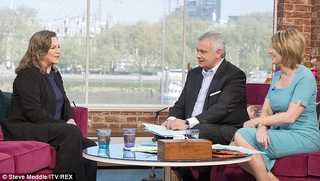This Morning: The actress made a TV appearance to speak to Eamonn Holmes and Ruth Langsford about her new play Bakersfield Mist
