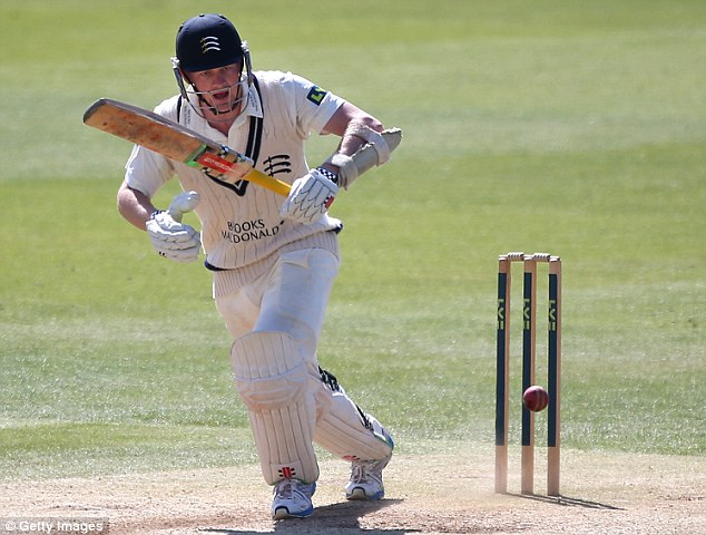 On the up: Rogers' Middlesex opening partner Sam Robson could well line up with Alastair Cook in the summer
