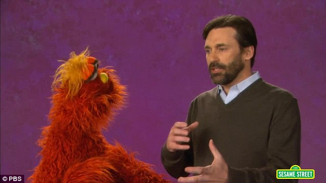 Jon the teacher: The 43-year-old actor taught red furry monster Murray about some key emotions, including guilt, frustration, and amazement