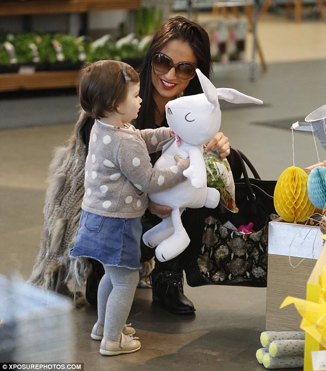 Happy shopping: The pair proved they were two peas in a pod on earlier in the month when they picked up some Easter treats