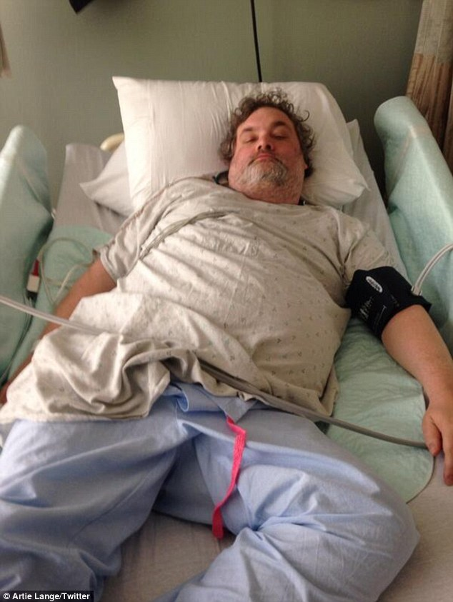 Get well: Artie Lang was hospitalized for diabetic shock in Detroit on Tuesday