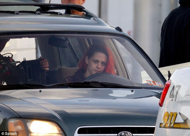 Lights, camera, action! The actress filmed scenes inside a Subaru for the upcoming movie