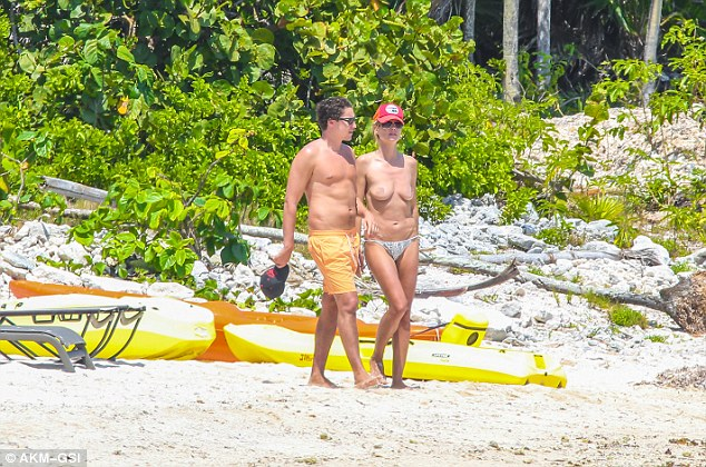 Spring break: Heidi has been with Vito since breaking up with her former bodyguard Martin Kristen earlier this year