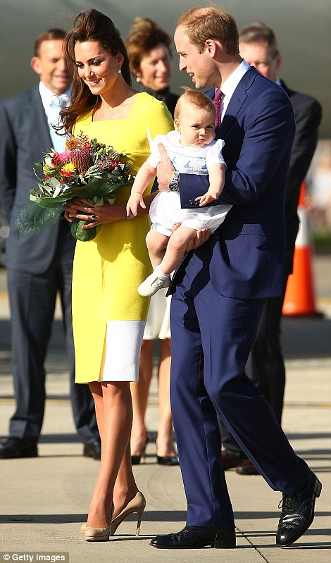 G'day Australia: Earlier in the afternoon, the Duke and Duchess arrived in Sydney with little Prince George