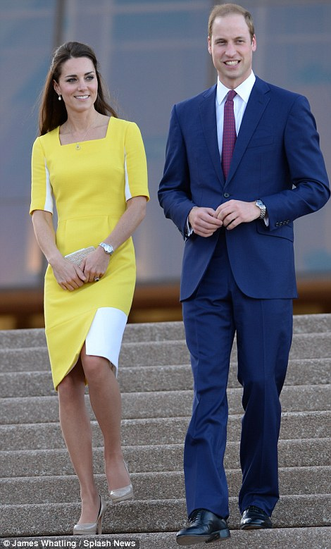 What a welcome: Sydney turned on some sunny weather for the Royal couple who took in the view of the stunning harbour from the steps of the Sydney Opera House