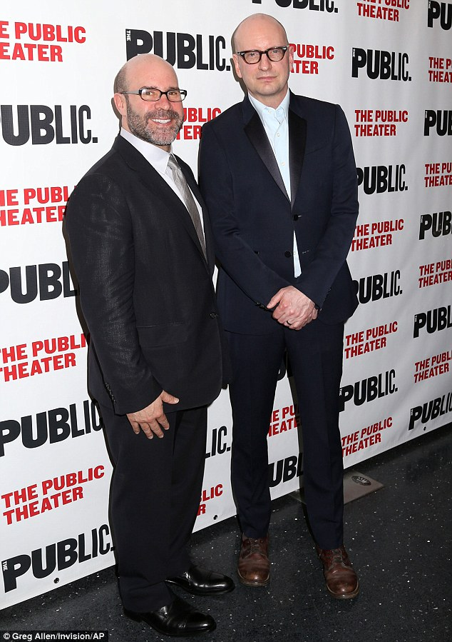 The men behind the show! Scott Burns and Steven Soderbergh appeared regal and smart in their slimming suits