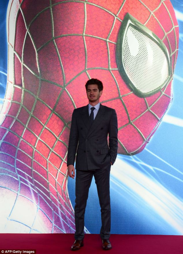 US-born British actor Andrew Garfield on the red carpet as he arrives for the German premiere of The Amazing Spiderman 2