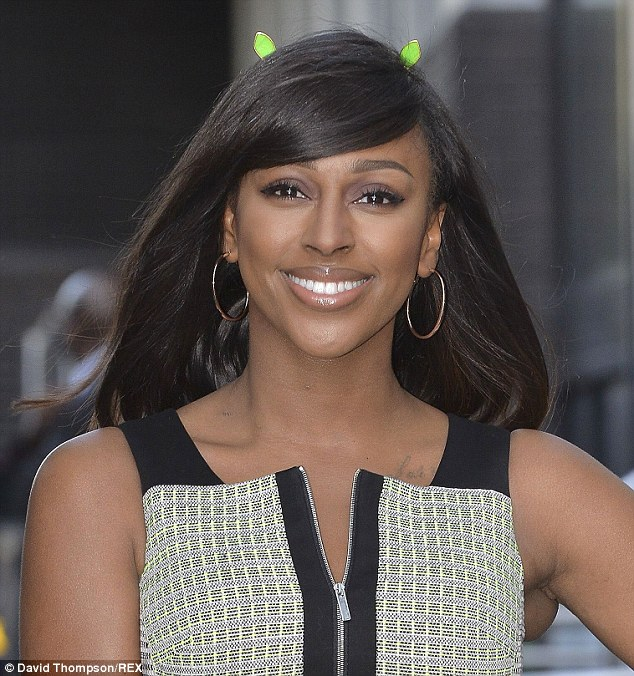 Ear we go: Alexandra Burke was seen arriving at the ITV studios on Wednesday for Daybreak