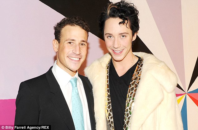 It's over...again: Victor Voronov and Johnny Weir (pictured at NY Fashion Week in 2012) called off their reconciliation last week just hours after the estranged couple said they were getting back together