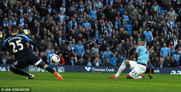 Quick start: Fernandinho scored for City inside two minutes