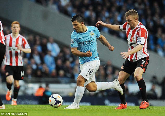Return: Sergio Aguero made a return to the first XI after injury, playing 57 minutes before being withdrawn