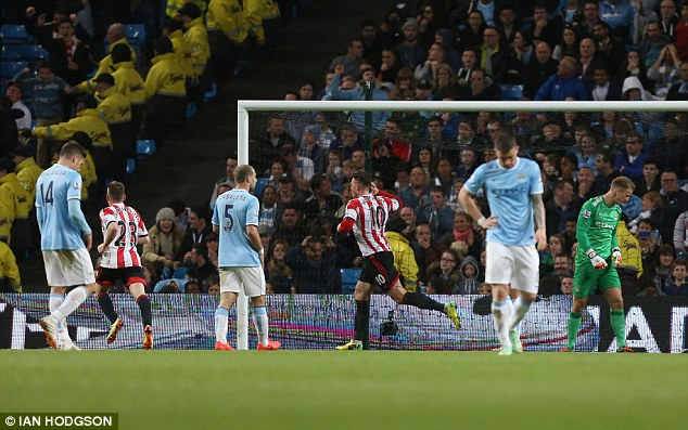 Wasted: Manchester City dropped two points at home to bottom of the league Sunderland