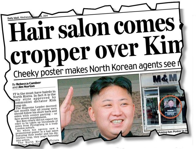 How yesterday's Daily Mail broke news of North Korea's attempt to clamp down on free speech