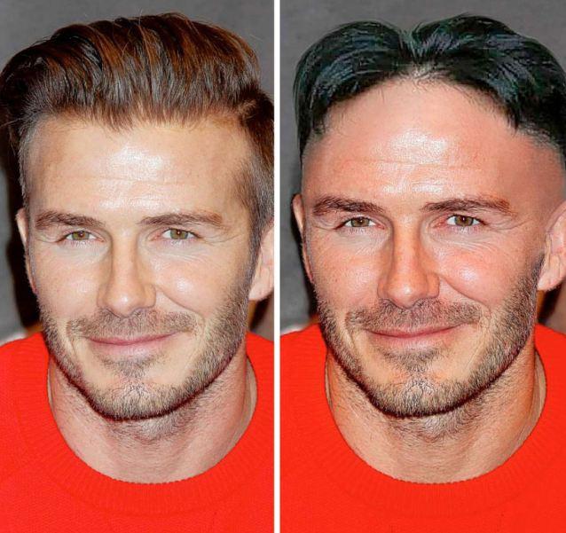 Becks combs it like Kim: Even the braids were better, David