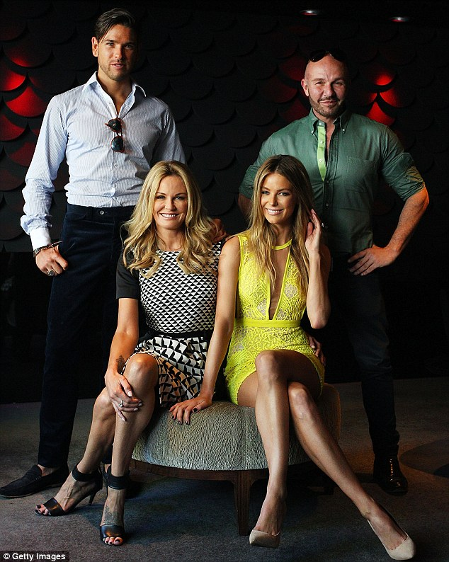 Grieving: The Australia's Next Top Model judge is still grieving the death of fellow judge Charlotte Dawson pictured together at a photocall last year with Didier Cohen and Alex Perry