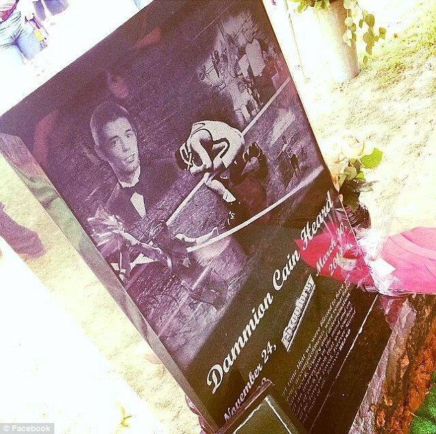 Rest in peace: Dammion Heard was laid to rest last weekend, nearly two weeks after his death