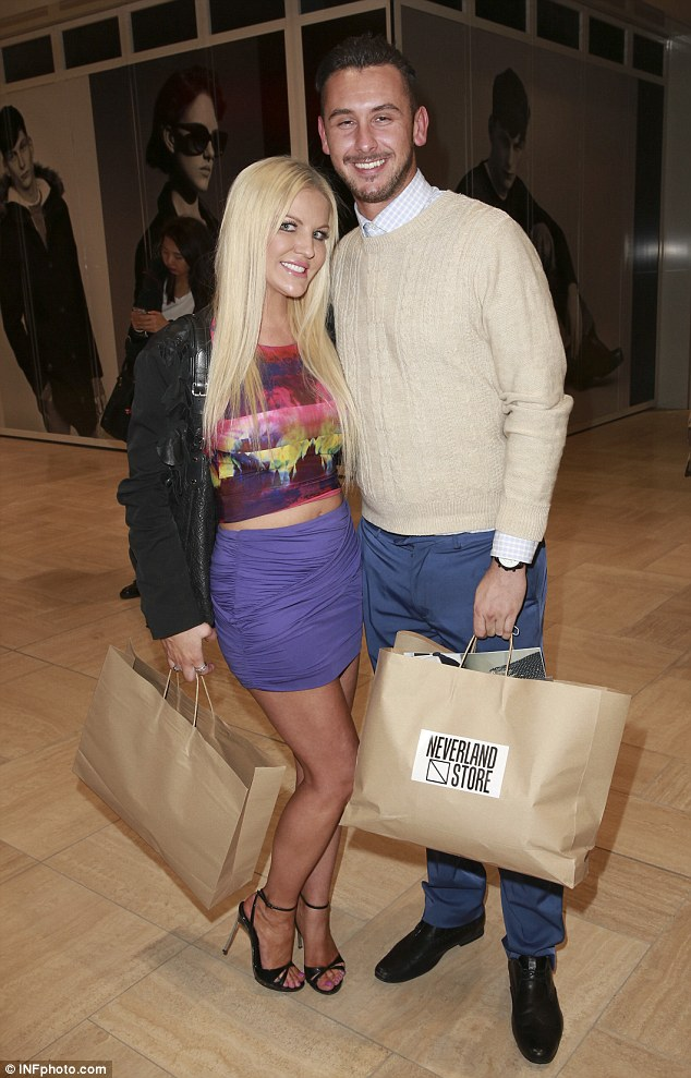 Keeping the economy running: Brynne Edelsten and her new beau Alex Roberts attended the Superdry Move Event, picking up pieces from footballer Buddy Franklin's Neverland Store