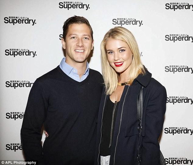 Beautiful pair: Former Miss Universe Australia Scherri-Lee Biggs and her boyfriend Lachlan Smith attended the fashion event
