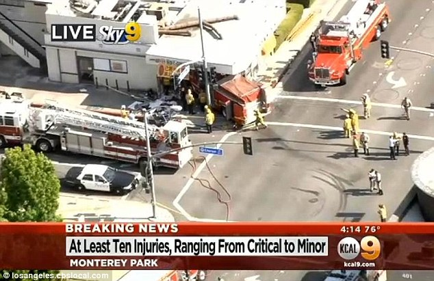 Crash: Two firetrucks collided Wednesday afternoon responding to a house call and 14 people were injured