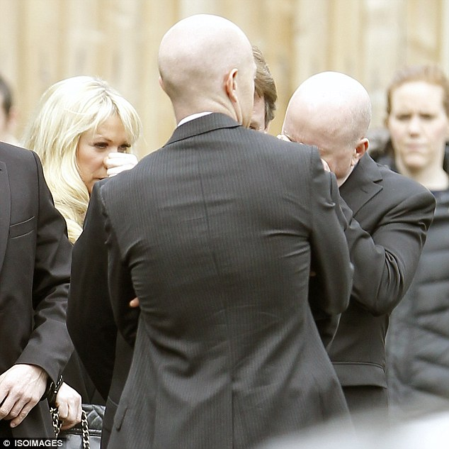Traumatic: Steve McFadden, who plays Phil Mitchell in the soap, cried between scenes