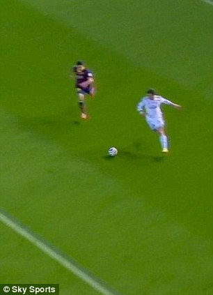 Speed: Bale nearly into the box