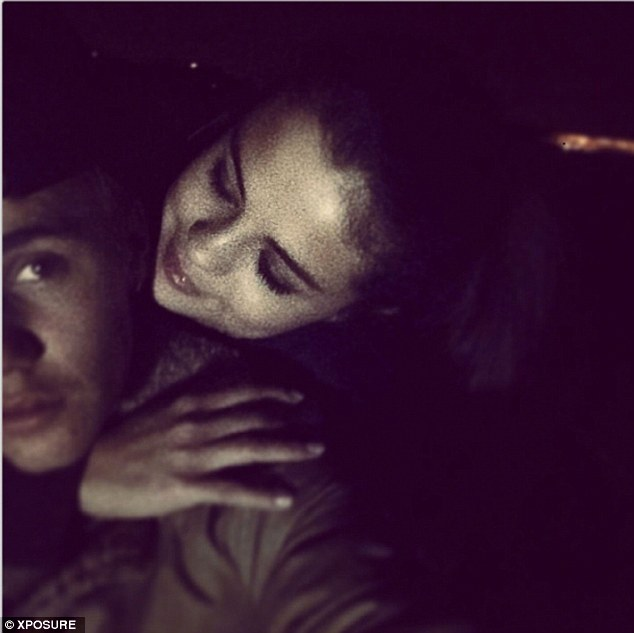 Sharing their love: Bieber posted a snap of him with Selena earlier this year of the two sharing a sweet moment