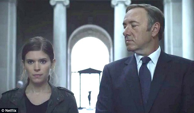 Co-stars: Kevin Spacey and Kate appear onscreen together in House of Cards