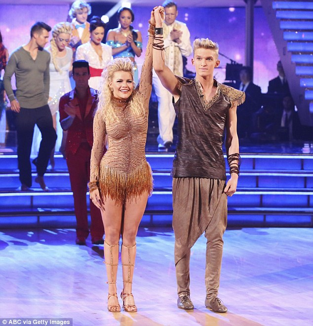 Shock elimination: Cody was booted off Dancing With The Stars with partner Witney Carson on Monday night and now has more time to focus on his music and body