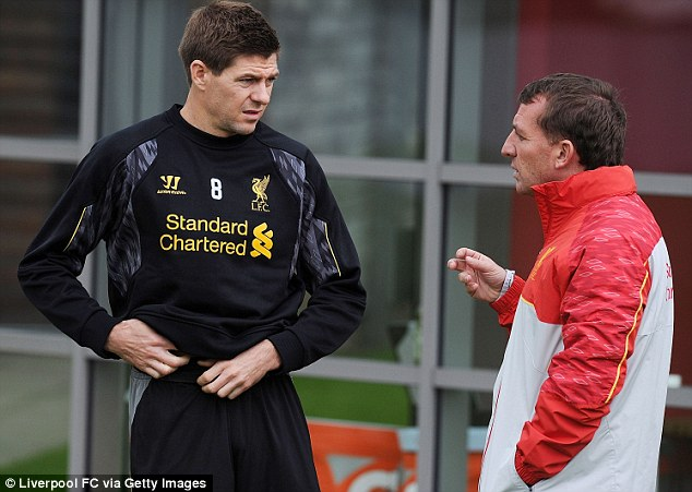Talking tactics: Brendan Rodgers says Steven Gerrard is the best in Europe in his deeper midfield role