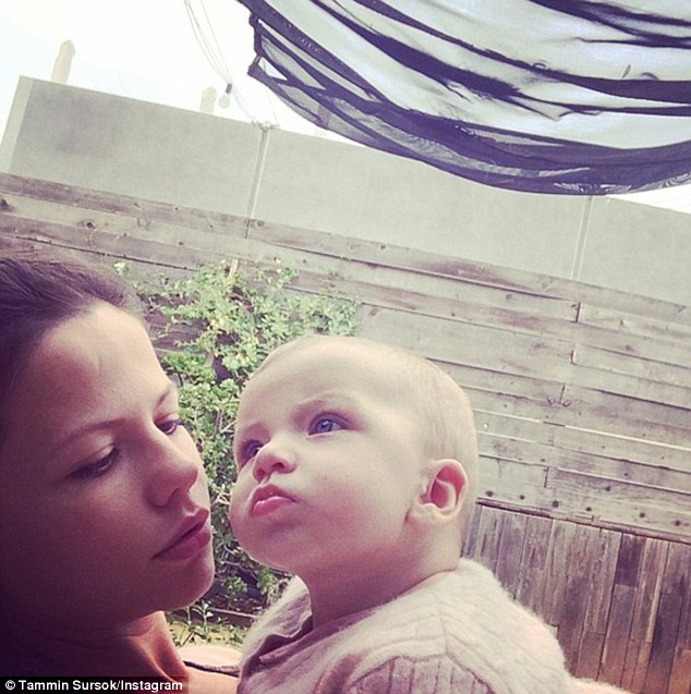 Mummy's little angel: The 30-year-old actress regularly shared photos with her daughter Phoenix, who was born in October, with social media followers