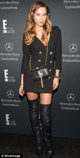 Liliana Nova is seen during Mercedes-Benz Fashion Week Fall 2014 at Lincoln Center for the Performing Arts