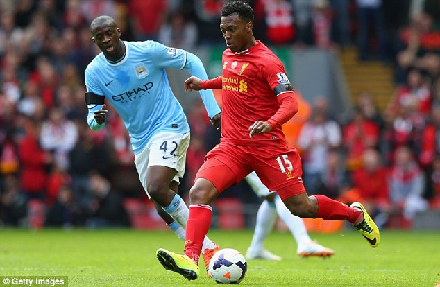 Hamstrung: Liverpool's Daniel Sturridge (right) is set to miss out through a hamstring injury