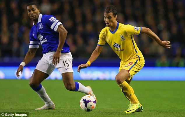 On the chase: Marouane Chamakh (right) is facing a battle to be fit for Crystal Palace's trip to West Ham