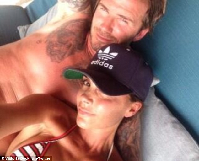 Day with the family: Victoria Beckham posted  an intimate shot with husband David Beckham as she celebrates her 40th birthday on a luxury resort in Utah close to the Grand Canyon