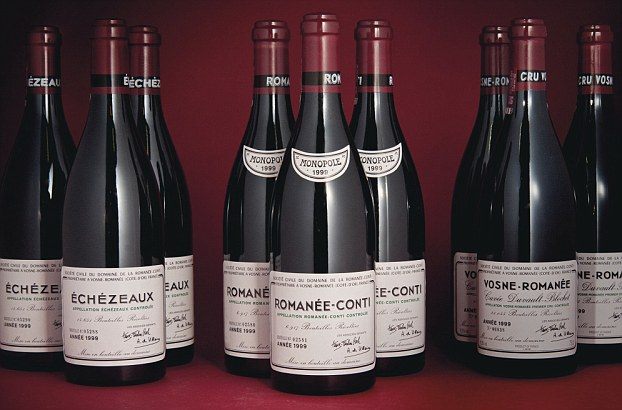 Six bottles of Romanee-Conti 1999 are among the lots up for auction. They are expected to fetch upwards of £50,000
