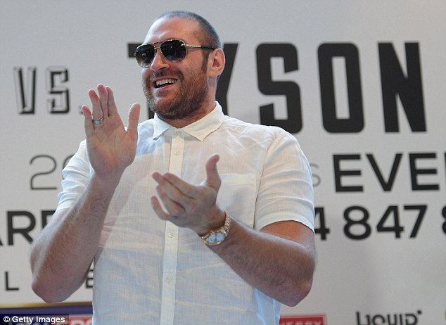Called off: Haye was twice due to fight fellow Brit Tyson Fury (above) but the fight has not happened